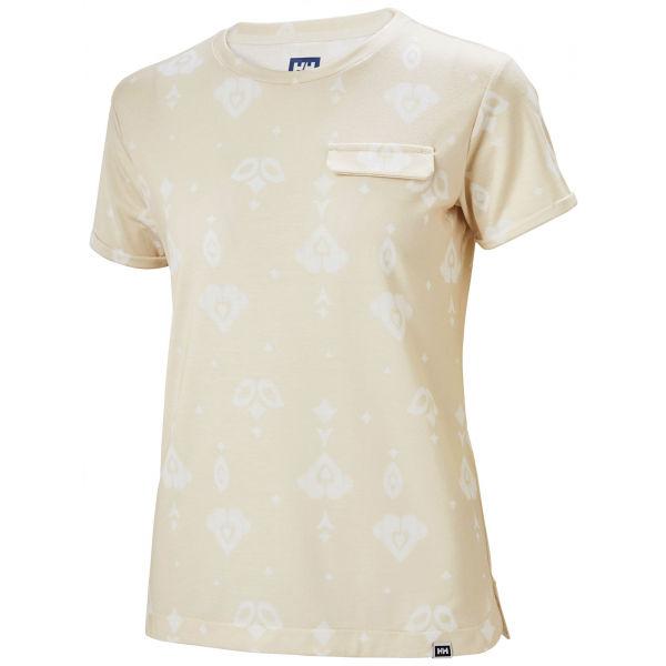 Helly Hansen LOMMA T-SHIRT béžová XS - Dámské triko s krátkým rukávem