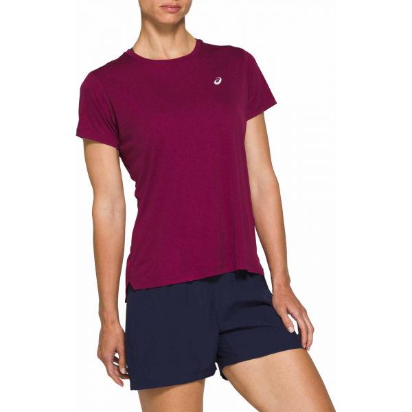 Asics SILVER SS TOP fialová XL - Dámské běžecké triko