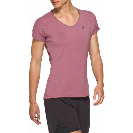 Asics V-NECK SS TOP - Koszulka do biegania damska