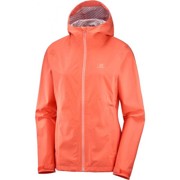 Salomon LA COTE FLEX 2.5 JKT W světle růžová XL - Dámská funkční bunda