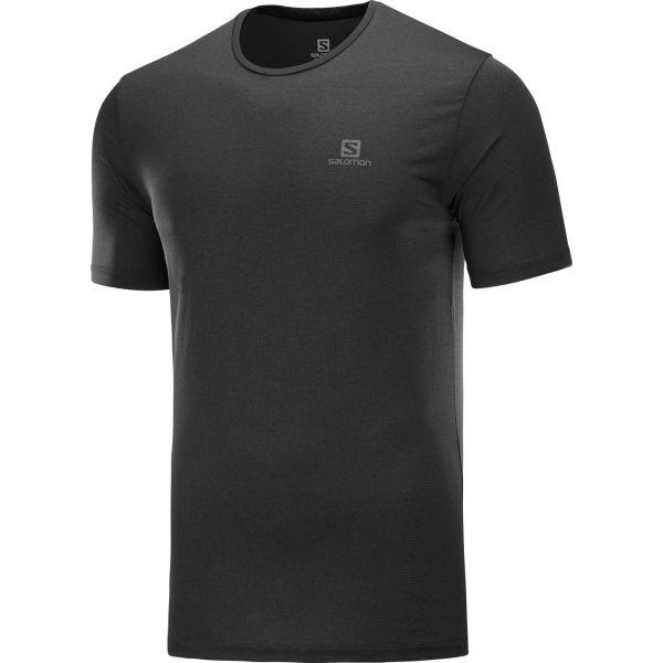 Salomon AGILE TRAINING TEE M černá XL - Pánské triko