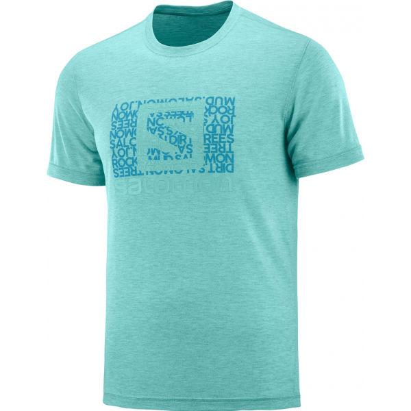Salomon EXPLORE GRAPHIC SS TEE M - Pánske tričko