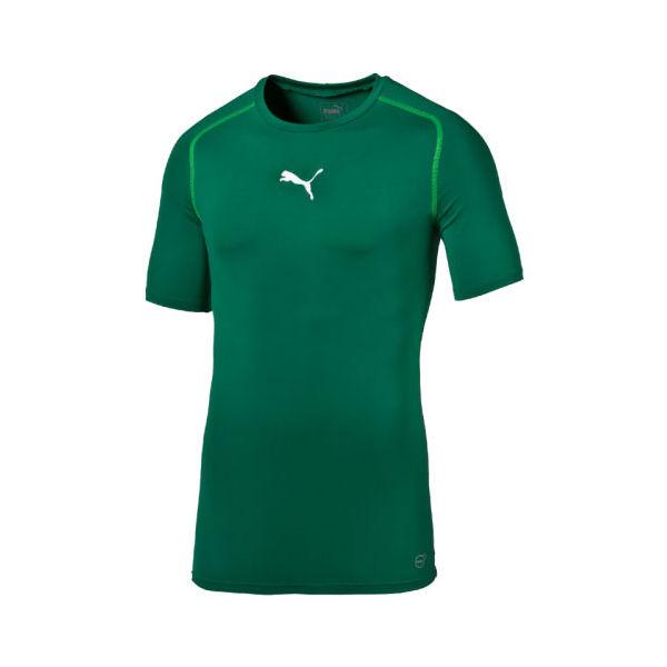 Puma LIGA BASELAYER TEE SS zelená XL - Pánské funkční triko
