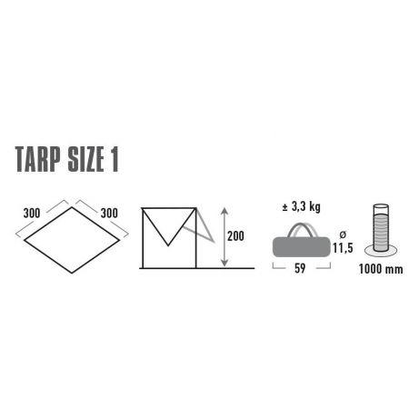 Protecție împotriva soarelui - High Peak TARP 1 - 3
