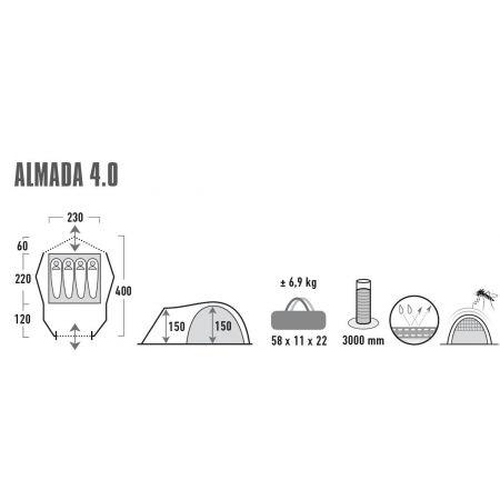 Recreational Tent - High Peak ALMADA 4.0 - 13
