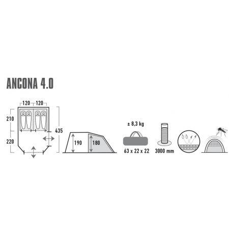 Namiot rodzinny - High Peak ANCONA 4.0 - 7