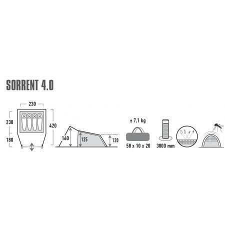 Namiot rodzinny - High Peak SORRENT 4.0 - 8