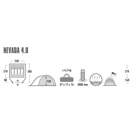 Rekreačný stan - High Peak NEVADA 4.0 - 9