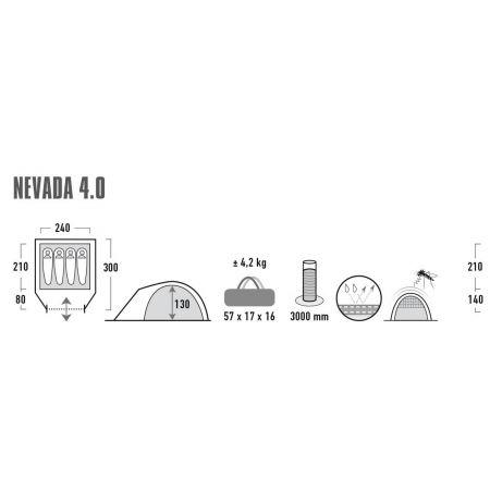 Cort de agrement - High Peak NEVADA 4.0 - 9