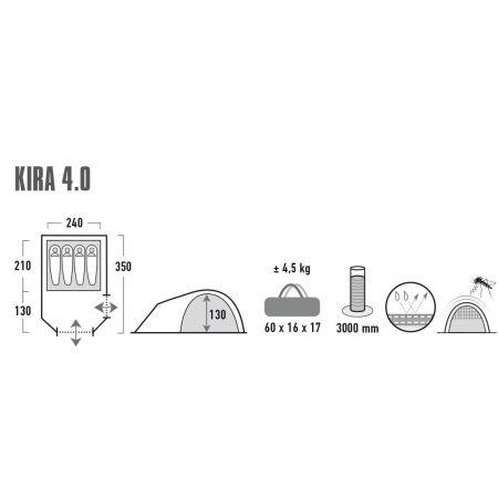 Rekreačný stan - High Peak KIRA 4.0 - 7