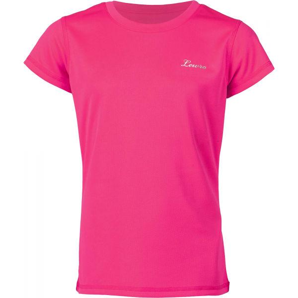 Lewro LEANDRA ružová 116-122 - Dievčenské tričko