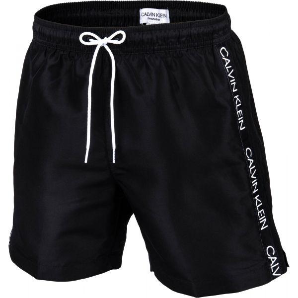 Calvin Klein MEDIUM DRAWSTRING černá L - Pánské koupací šortky
