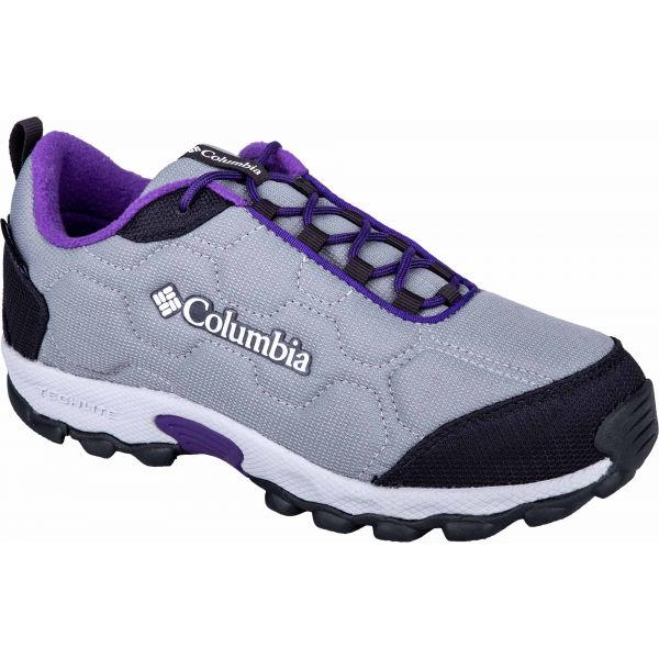 Columbia FIRECAMP SLEDDER 3 WP tmavě šedá 6 - Dětská outdoorová obuv