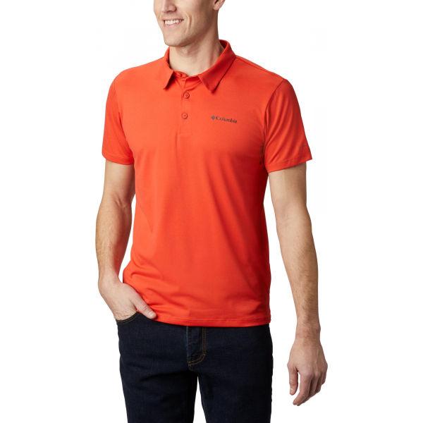 Columbia TRIPLE CANYON TECH POLO oranžová XL - Pánské polo triko