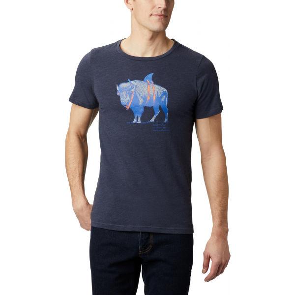 Columbia M PINEY FALLS™ GRAPHIC TEE tmavě modrá L - Pánské triko