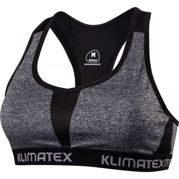 Klimatex ILMI szary XL - Biustonosz na fitness i biegi damski