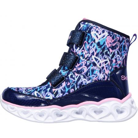 Зимно обувки за момичета - Skechers HEART LIGHTS SCRIBBLE - 2
