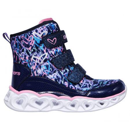 Зимно обувки за момичета - Skechers HEART LIGHTS SCRIBBLE - 1