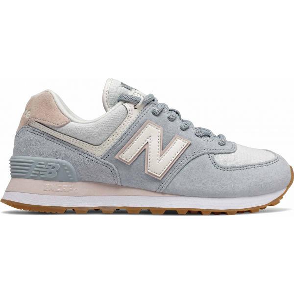 New Balance WL574SUO šedá 6.5 - Dámská volnočasová obuv