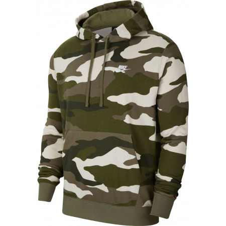 Nike NSW CLUB HOODIE PO FT CAMO M - Herren Sweatshirt