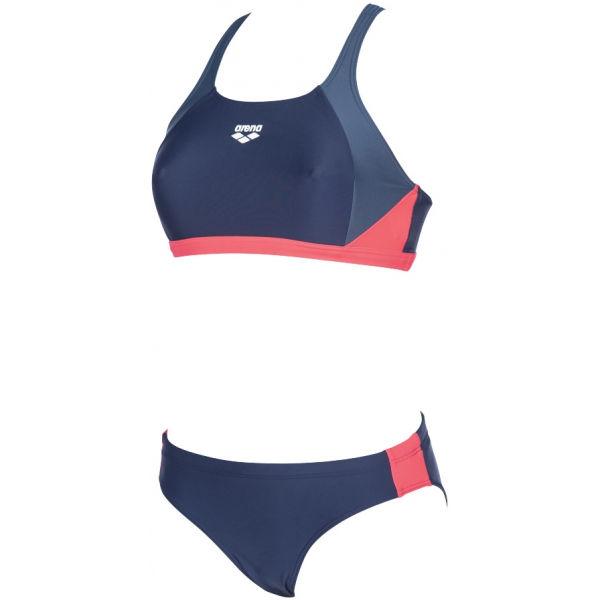 Arena REN TWO PIECES tmavě modrá 36 - Dámské dvoudílné plavky
