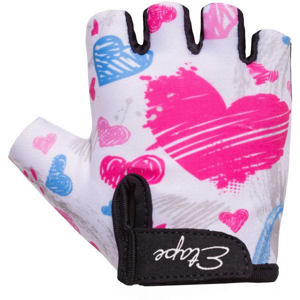 Etape TINY bílá 5-6 - Dětské cyklistické rukavice