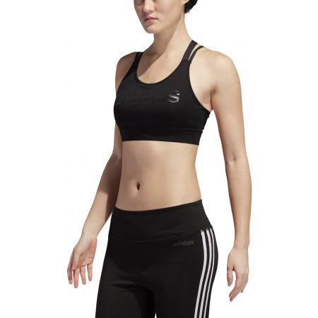 Női sportmelltartó - adidas W D2M BRAND BT - 3