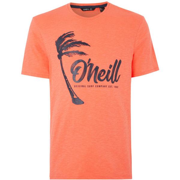 O'Neill LM PALM GRAPHIC T-SHIRT oranžová XL - Pánske tričko