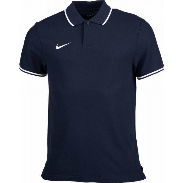 Nike POLO TM CLUB19 SS M růžová S - Pánské polotričko