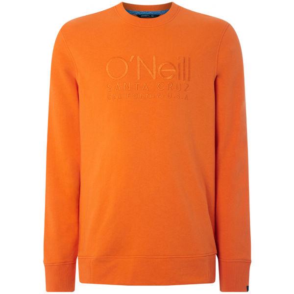 O'Neill LM ONEILL LOGO CREW SWEAT oranžová L - Pánská mikina