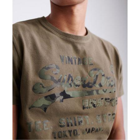 Pánske tričko - Superdry VL SHIRT SHOP BONDED TEE - 3