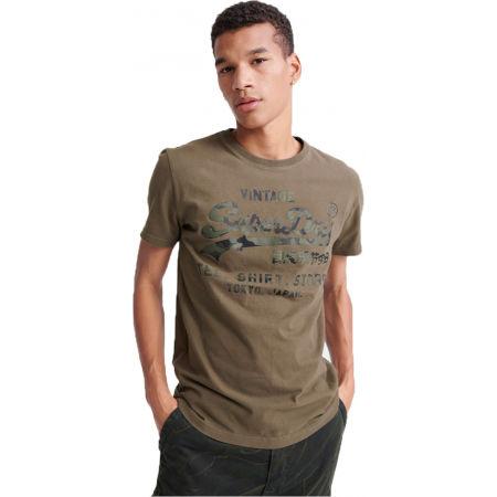 Мъжка тениска - Superdry VL SHIRT SHOP BONDED TEE - 1