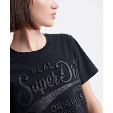 Dámske tričko - Superdry RO GLITTER EMBOSS ENTRY TEE - 4