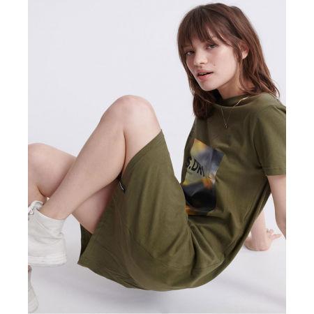 Dámske šaty - Superdry DESERT GRAPHIC T-SHIRT DRESS - 3