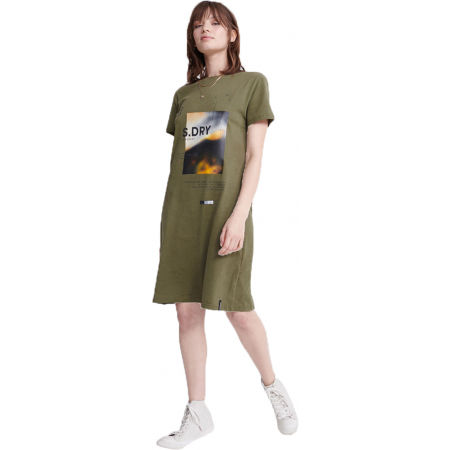 Dámske šaty - Superdry DESERT GRAPHIC T-SHIRT DRESS - 1