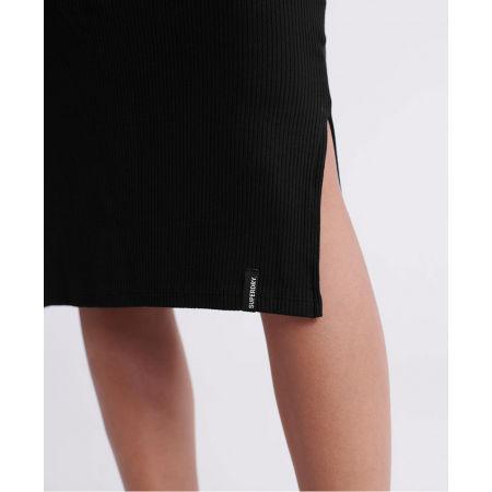 Dámské šaty - Superdry JACQUARD BODYCON LS MINI DRESS - 4