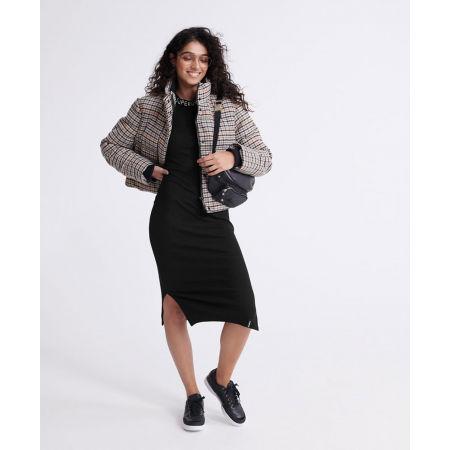 Dámské šaty - Superdry JACQUARD BODYCON LS MINI DRESS - 5