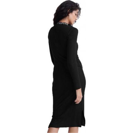 Dámské šaty - Superdry JACQUARD BODYCON LS MINI DRESS - 2