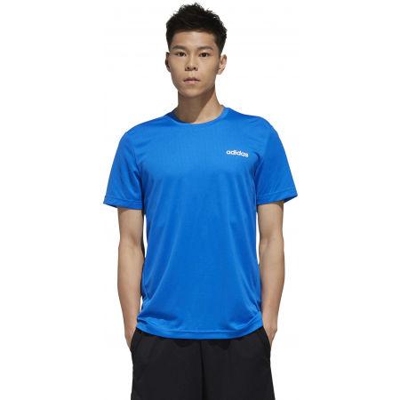 Pánské tričko - adidas D2M PLAIN TEE - 4