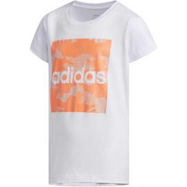 adidas YG CAMO TEE - Dievčenské tričko