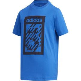 adidas YB BOX TEE - Koszulka chłopięca