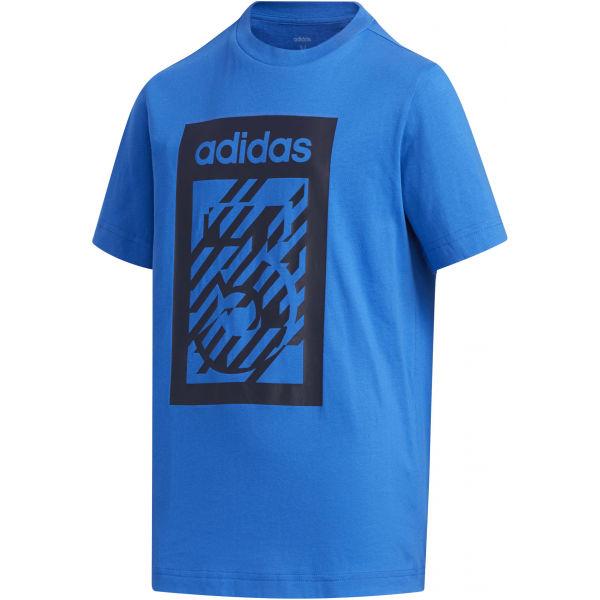 adidas YB BOX TEE - Chlapčenské tričko