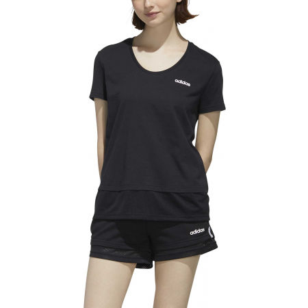Dámske tričko - adidas WOMEN ESSENTIAS MATERIAL MIX TEE - 3