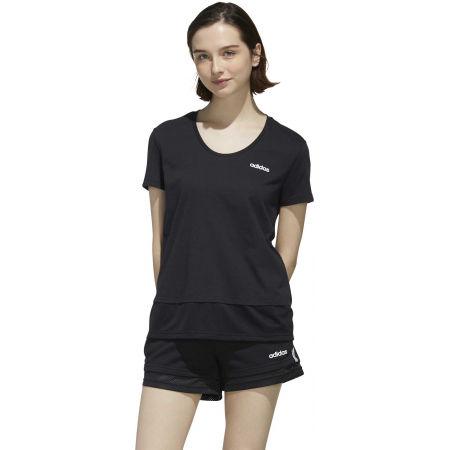 Dámske tričko - adidas WOMEN ESSENTIAS MATERIAL MIX TEE - 4
