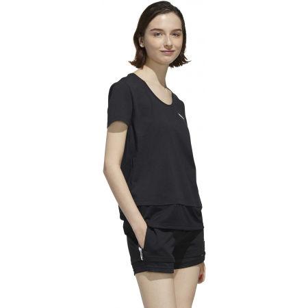 Dámske tričko - adidas WOMEN ESSENTIAS MATERIAL MIX TEE - 6
