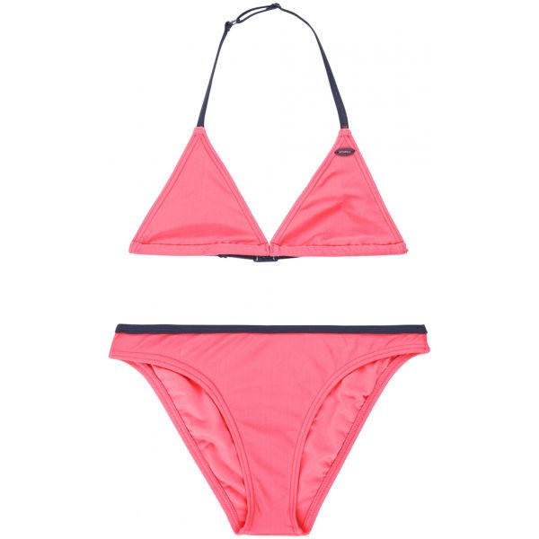 O'Neill PG ESSENTIAL TRIANGLE BIKINI růžová 164 - Dívčí plavky