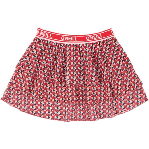 O'Neill LG RUFFLE SKIRT červená 116 - Dívčí sukně