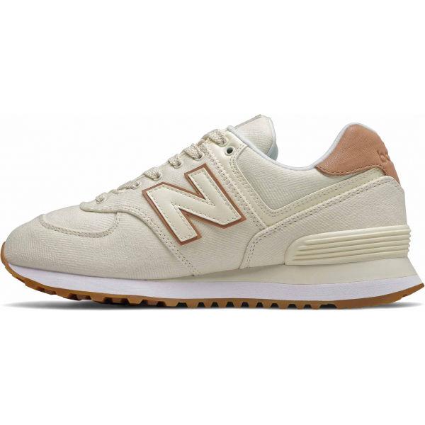 New Balance WL574SCB bílá 5.5 - Dámská volnočasová obuv
