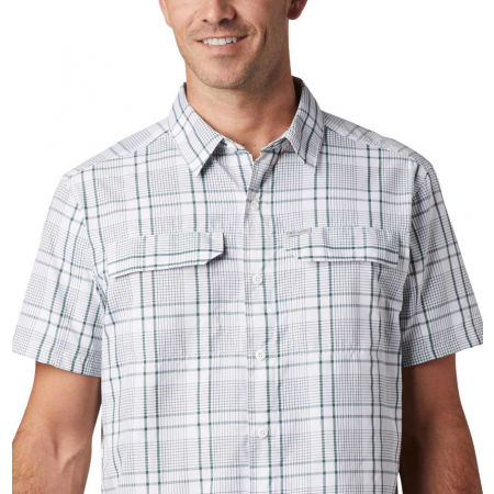 Men's long sleeve shirt - Columbia SILVER RIDGE 2.0 MULTI PLAID SS SHIRT - 7