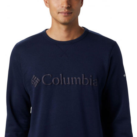 Men's leisure sweatshirt - Columbia M LOGO FLEECE CREW - 5